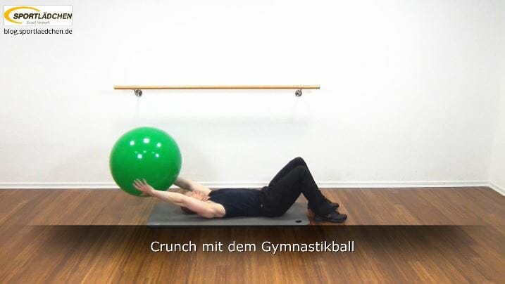 bauchmuskeltraining mit dem gymnastikball. Black Bedroom Furniture Sets. Home Design Ideas