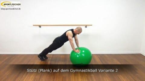 Plank auf dem Ball 3b Variante 2