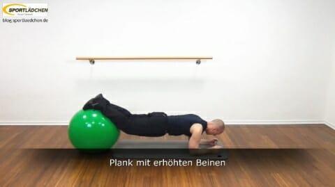 Plank auf dem Ball 3c Variante 3