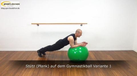 Plank auf dem Ball 3a Variante 1