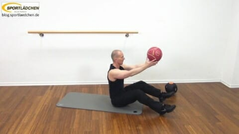 Core Training Workout Uebung 1 Variante A Bild 1