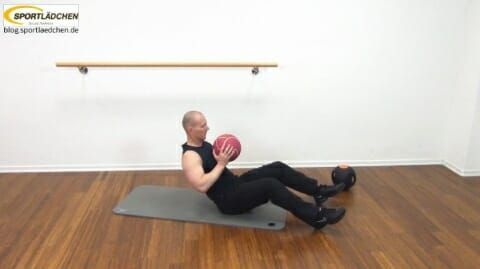 Core Training Workout Uebung 1 Variante B Bild 1
