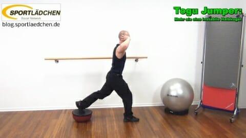 Einbeinige Kniebeuge Instabilitaet hinteres Bein 1