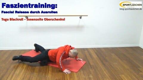 Faszien Fitness Innenseite Oberschenkel 1