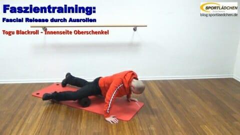 Faszien Fitness Innenseite Oberschenkel 2