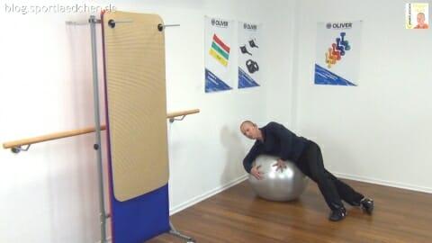 Gymnastikball Übungen Seitlage Adduktoren 1