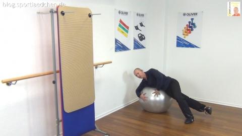 Gymnastikball Übungen Seitlage Adduktoren 2