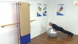 Gymnastikball Übungen Stuetz Option Push up 2