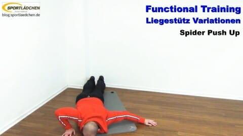 Functional Training Liegestuetze Spider 1