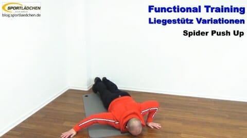 Functional Training Liegestuetze Spider 2