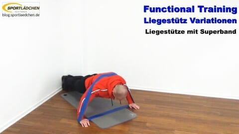 Functional Training Liegestuetze Superband 1