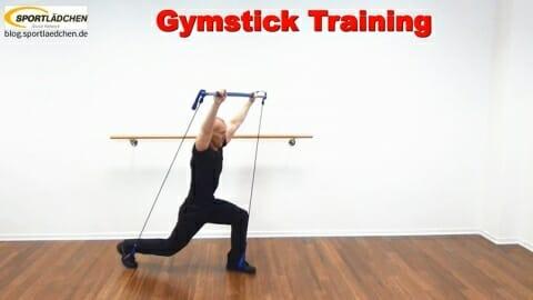 Ausfallschritt mit Sprung und Schulterdruecken 1