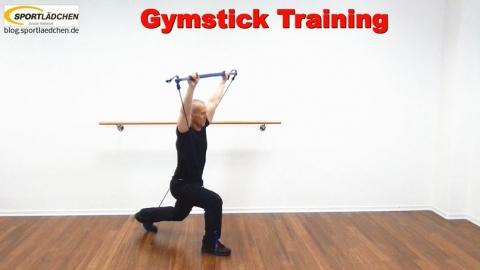 Ausfallschritt mit Sprung und Schulterdruecken 2