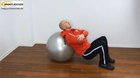 Po Training mit dem Fitball