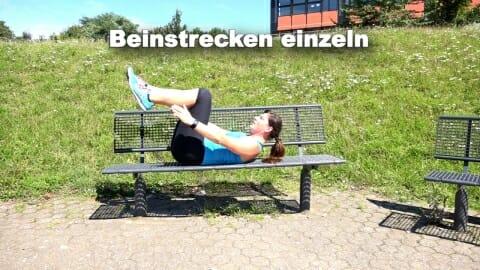 Parkbank Workout Beinstrecken einzeln 1