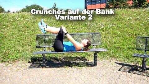 Parkbank Workout Crunches B 1