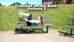 Parkbank Workout Crunches B 2