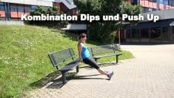 Parkbank Workout Kombi Push ups Dips 1