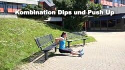 Parkbank Workout Kombi Push ups Dips 2