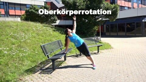 Parkbank Workout Oberkoerperrotation 2