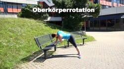 Parkbank Workout Oberkoerperrotation 1