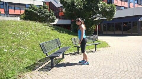 Parkbank Workout Step up Knee 1