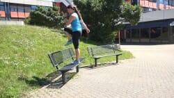 Parkbank Workout Step up Knee 2