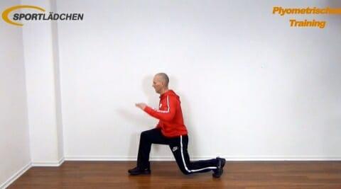 Sprung in die weite einbeinige Kniebeuge 1
