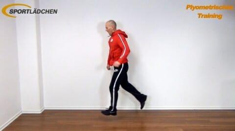 Sprung in die weite einbeinige Kniebeuge 2