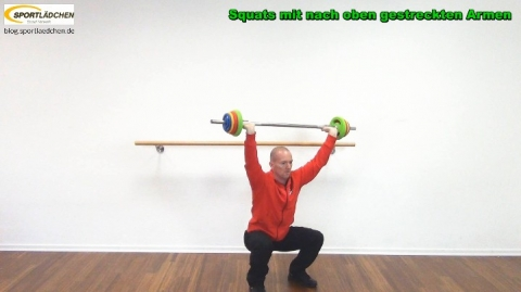 Squat gestreckter Arm 2