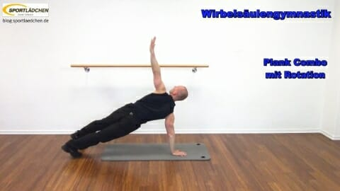 5 Plank Combo mit Rotation im Stuetz A