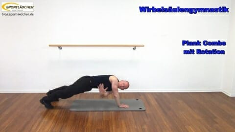 5 Plank Combo mit Rotation im Stuetz B