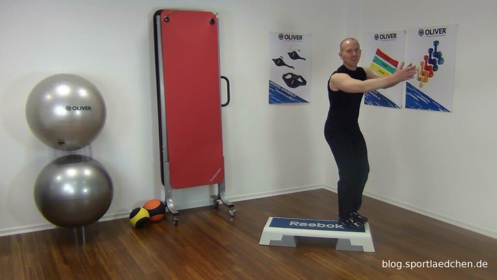 Typischer Step Aerobic Schritt Bild 2