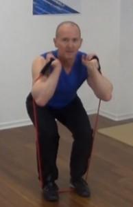 Fitness Tube Squat Ende