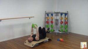 Langhantel Workout Fliegende Bewegung 1