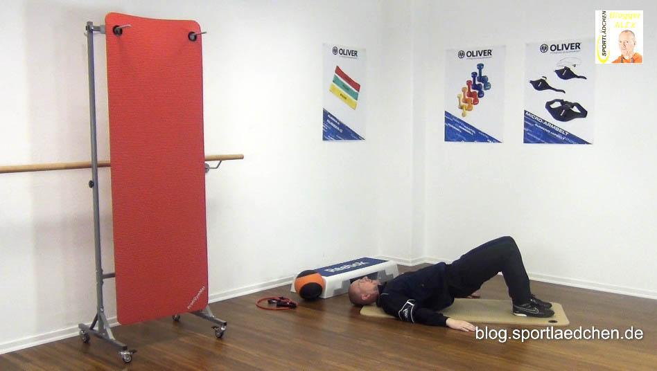 Bauch Beine Po Workout mit Schwerpunkt Po Muskel