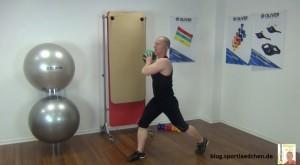 Medizinball Übungen Ausfallschritt 1