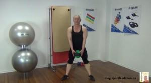 Medizinball Übungen Wide Squats 2