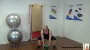 Medizinball Übungen Wide Squats 1