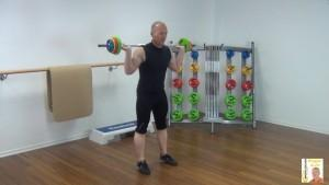 Langhantel Workout Squat 1