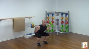 Langhantel Workout Squat 2