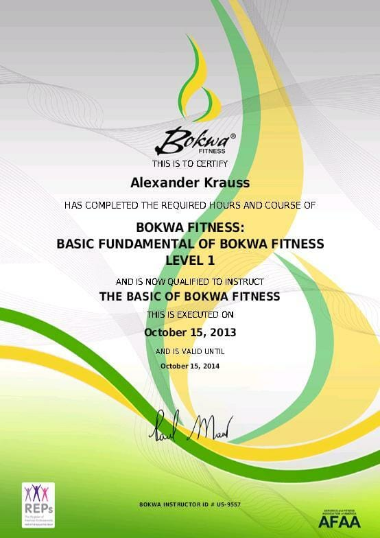 Bokwa Certificate