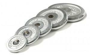 Hanteltraining: Typische Gewichtsscheiben