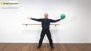 Medizinball Core Fitness Scheibenwischer