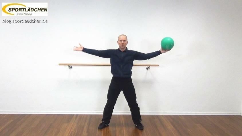 Medizinball Core Fitness Scheibenwischer 2