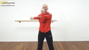 Dehnübungen Schulter | Hier: Typische Stretchposition