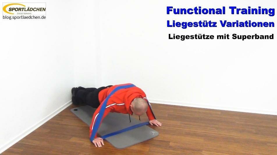 Functional Training Liegestütze mit dem Superband