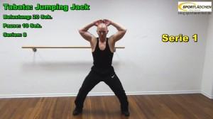 Jumping Jack im Intervallprogramm