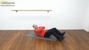 Bauchmuskeltraining Übungen Crunch