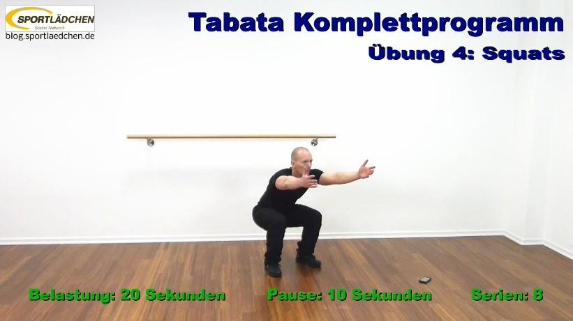 Tabata Training - Im Bild: Der Squat